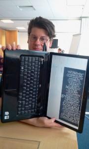 Wordcloud of Defoe's journey taken at Textcamp by Dave Flanders